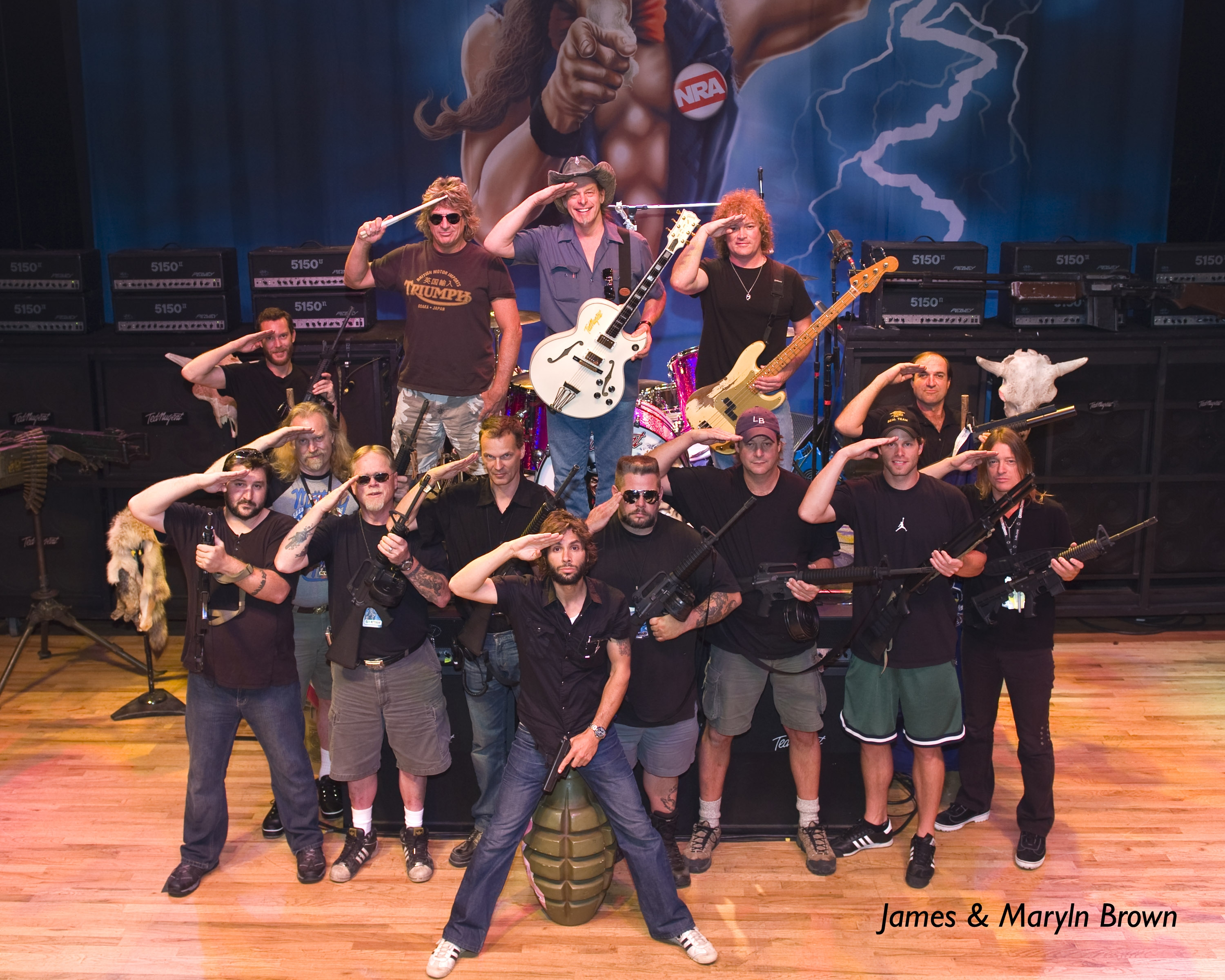Photo of John Schlick - Concert Lighting Designer, as part of the 2008 Ted Nugent tour.