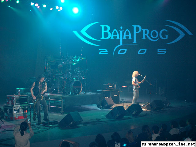 Tripod at Baja Prog Rock Festival all Blue  john Schlick was the Lighting Designer for this shot.