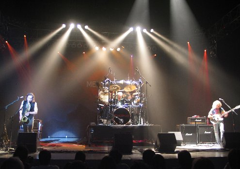 Tribod Full Band with white beams - John Schlick was the Lighting Designer for this shot